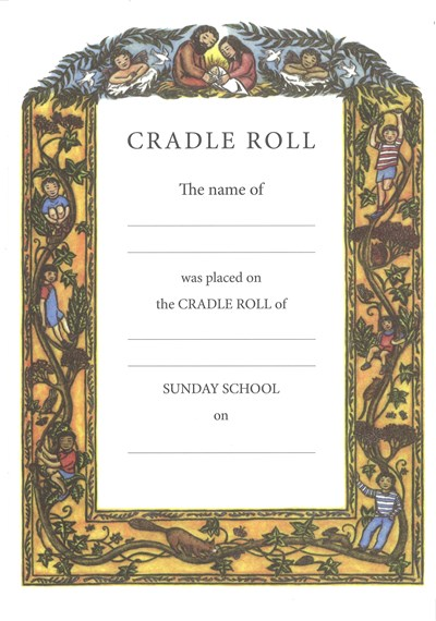 CA04 Cradle Roll Certificate (pack of 10)