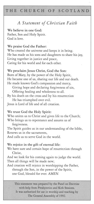 MO09 Statement of Christian Faith (pack of 10)