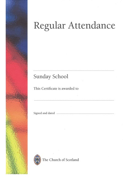 SS02 Attendance Certificate (pack of 10)