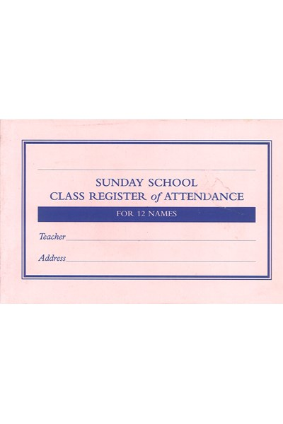 SS04 Class Register of Attendance (12 names)