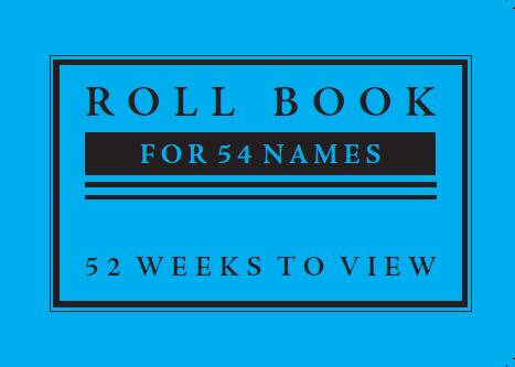 SS10 Sunday School Roll Book (54 names)